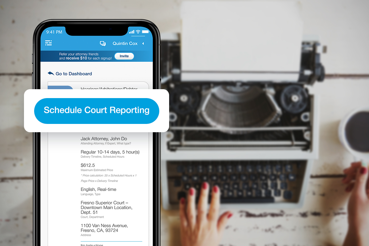 AppearMe is a Must-Have for Hiring a Court Reporter