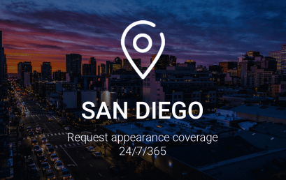Request Appearance Coverage 24 hours a Day, 365 Days a Year in San Diego