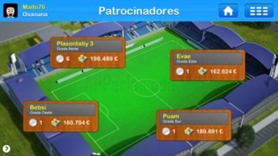 Patrocinadores del juego de Entrenador de fútbol