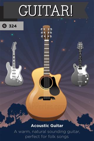 Elige instrumento en este juego de guitarras