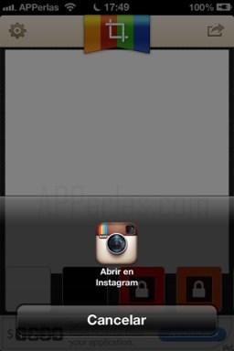 Subir fotos a instagram a  tamaño completo