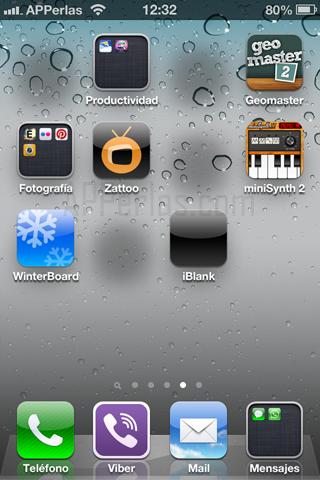 mueve los iconos del iPhone invisibles