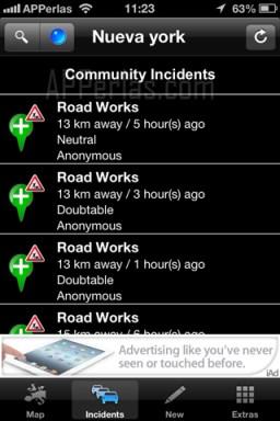 Incidencias en el estado del tráfico