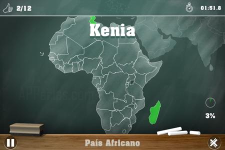 Interfaz del Juego de geografía