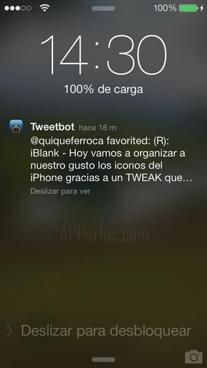 desbloquear iPhone con ios 7 desde notificación