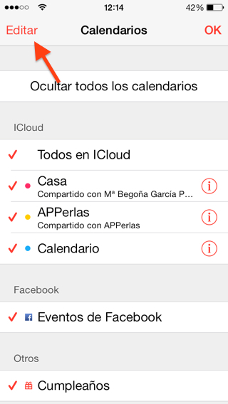 Cómo Compartir calendarios en iPhone