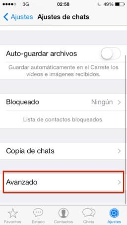 La hora de tu última conexión en WhatsApp iPhone
