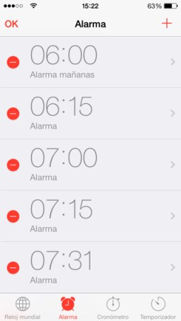 alarma del iPhone