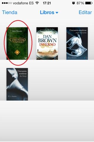 Sincronizar marcadores de libros en iOS