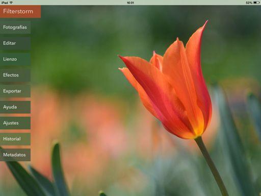 app de edición Filterstorm