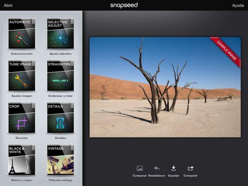 app de edición snapseed