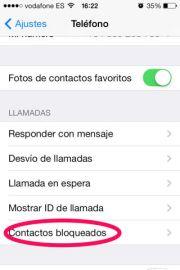 BLOQUEAR CONTACTOS EN IPHONE Y IPAD CON IOS 7