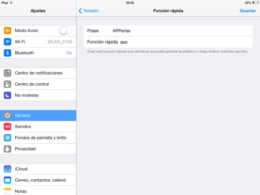 Crear funciones rápidas en el iPhone, iPod Touch