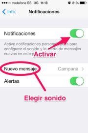 Cambiar el sonido de un grupo de Whatsapp en iPhone