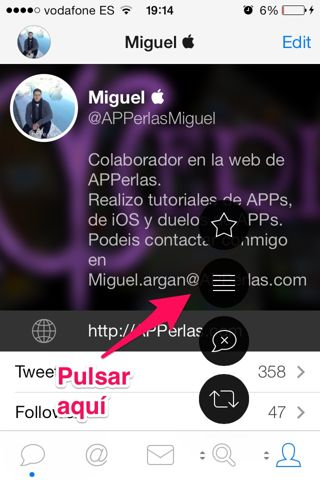 crear listas en Tweetbot iPhone