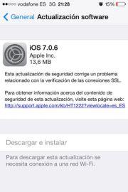 Actualización a iOS 7.0.6 para todos los dispositivos - APPerlas