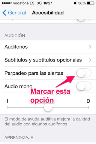 flash del iPhone activar