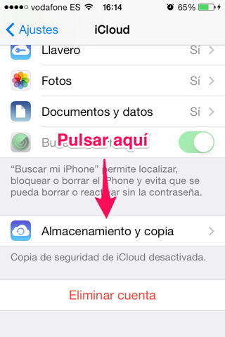 copia de seguridad en iPhone, iPad