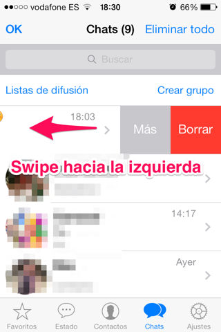 liberar espacio en iPhone Whatsapp