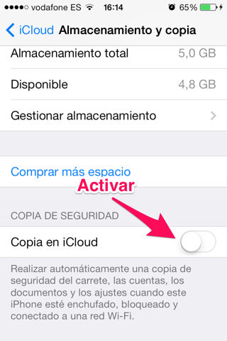 copia de seguridad en iPhone, iPad y iPod Touch