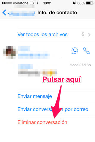 liberar espacio en iPhone eliminando chats