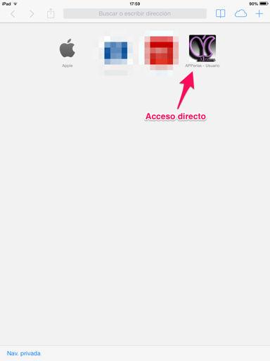 añadir favoritos en safari para ipod touch