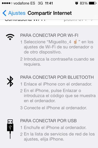 como compartir internet en un iPhone