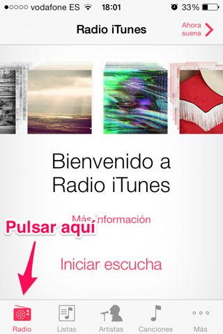 usar iTunes Radio en España y iPhone
