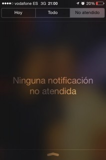 centro de notificaciones en iOS 7 1