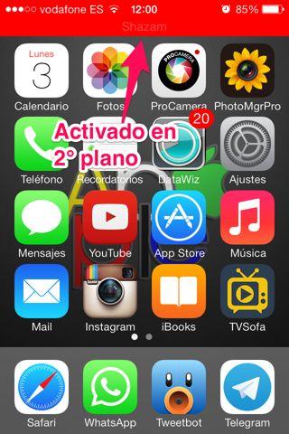 auto shazam en iPhone, iPad