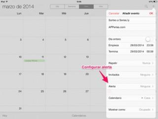 alerta en un evento de calendario 1