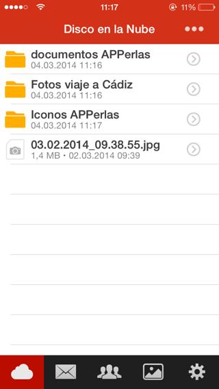 gestionar archivos en la nube