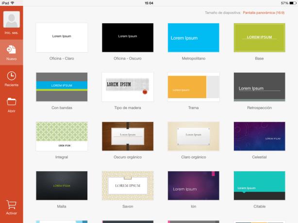App de PowerPoint para iPad