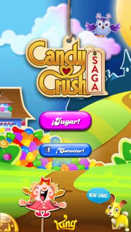 candy crush nueva pantalla de inicio