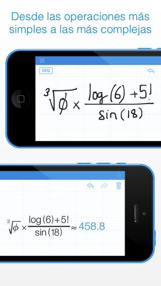 Calculadora de escritura a mano