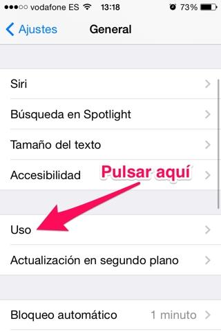 consumo de batería en iOS 2