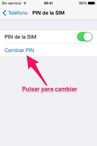 cambiar PIN de la tarjeta SIM en iPhone 4