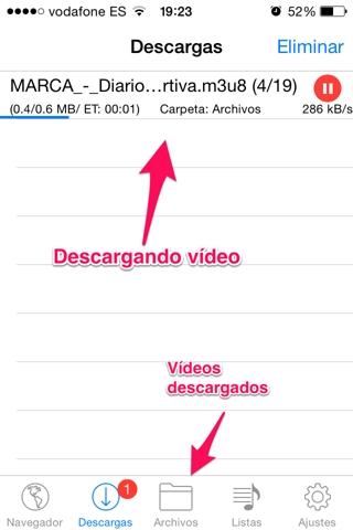 descargar vídeos en iPhone 5