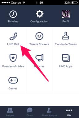 Line CALL para iOS