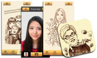 MomentCam, la app para realizar tu caricatura
