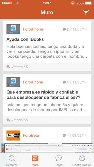 App de foros para iPhone