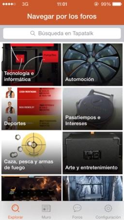 App de foros para iPad