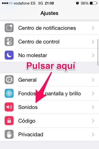 vibración en el iphone 1
