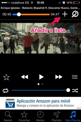 música de youtube en iPhone 2