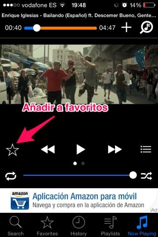 música de youtube en iPhone 4
