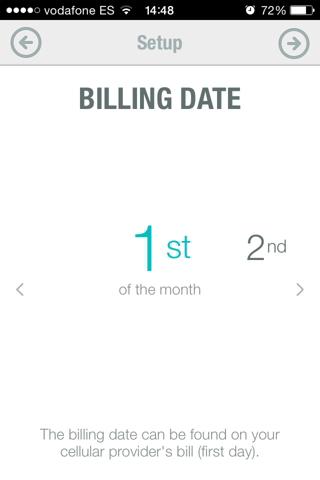 datos en iPhone 1