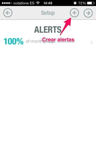 datos en iPhone 4