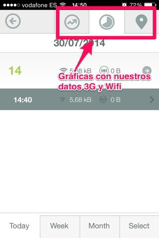 datos en iPhone 7