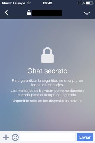 escribe en un Chat secreto