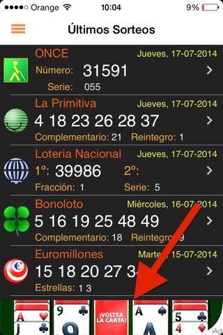 App gratis de lotería Española